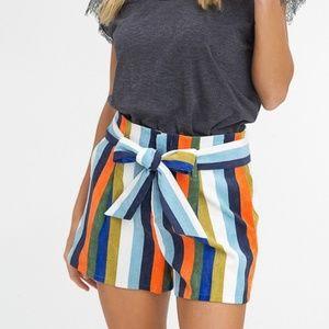 Pants - Ramona Multi Stripe Corduroy Shorts